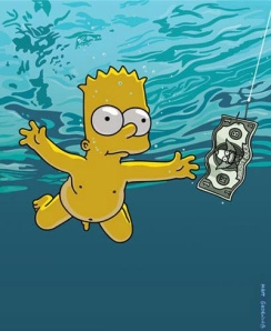 bart simpson and nevermind baby