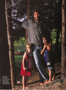 LC and kids from GQ October 1997